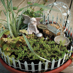 Divine Lifestyle created this cute fairy garden. I just love these for a nice indoor decoration!